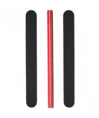 Пилочка для ногтей закругленная черно красная 18*2*0,8 см
