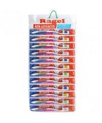Зубные щётки Ragel New 18,3 см на блистере