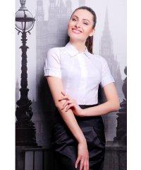 блуза Норма к/р белый
