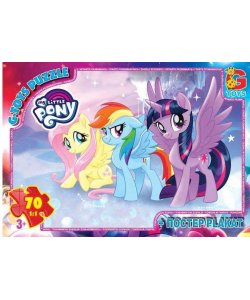 Пазлы 70 эл.  G-Toys   My little Pony  MLP 014 (62) +постер