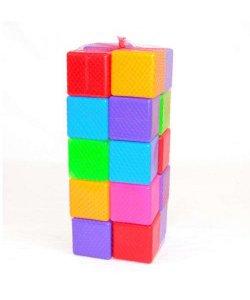 Кубики цветные 24 куб. 111/3 (4)  BAMSIC