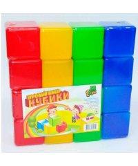 Кубики цветные 16 шт. (20) 05063 M-TOYS