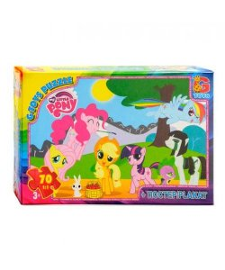 Пазлы 70 эл.  G-Toys   My little Pony  MLP 002 (62)