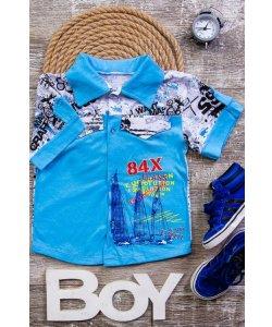 Рубашка для мальчика с накатом 9925-002-33
