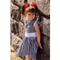 Платье для девочек Морячка 9789-002