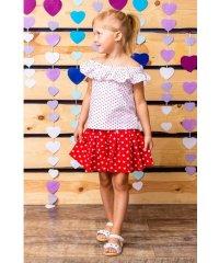 Комплект для девочки (юбка-шорты + блуза) 6028-002