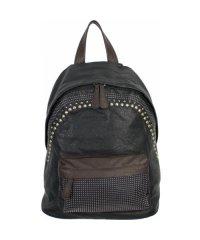Рюкзак №7022 Чёрный с коричневым