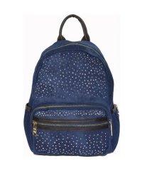 Рюкзак №6-4 джинс Синий с коричневым