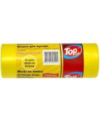 Пакет для мусора 45×50 20 л 20 штук желтый