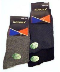 """Мужские однотонные носки """"Корона"""" А1026"""