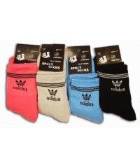 """Махровые женские носки """" Adidas """" Украина, микс"""