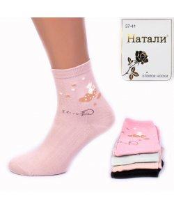 """Носки женские, хлопок """"Натали"""" ТАН/YH-2/9"""
