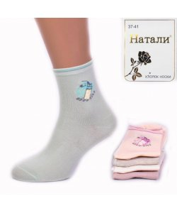 """Носки женские, хлопок """"Натали"""" ТАН/YH-15/3"""