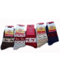 """Шерстяные женские носки """"Q&S"""" Сен1421"""